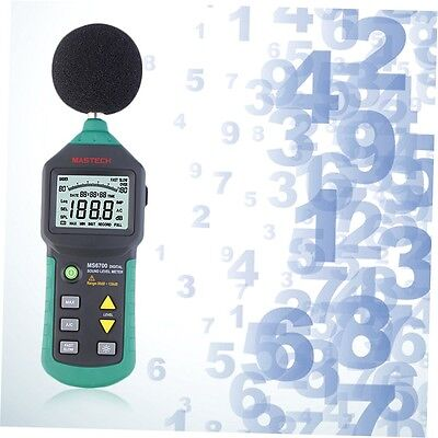Mastech MS6700 Digital Sound Level Meter Test Measure Decibels 30-130dB G#