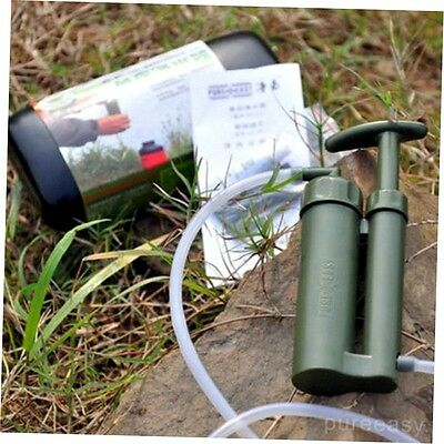 Portable Outdoor Water Filter Purify Pump Outdoor Survival Hiking Camping G#