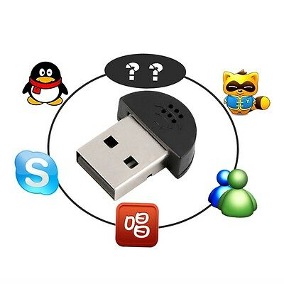 Super Mini USB 2.0 Microphone MIC Audio Adapter for PC Notebook Laptop G#