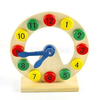 Wooden Digital Clock Kids Children Learning Time and Numbers Educational Toy