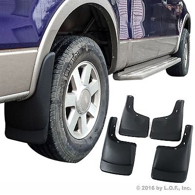 Ford F-150 Mud Flaps 2004-2014 Mud Guards Splash Guards Molded 4 Front Rear
