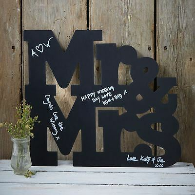 Ginger Ray Mr And Mrs Chalkboard Chalk Board Sign Wedding Guest Book Alternative
