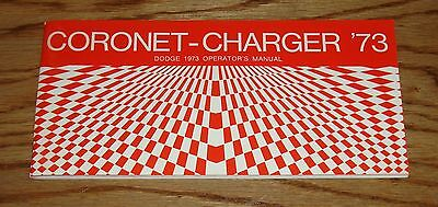 1973 Dodge Coronet & Charger Owners Operators Manual 73