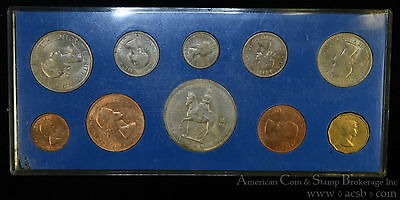 Great Britain 1953 CH BU Complete 10 Coin LSD Mint Set Elizabeth II Coronation.