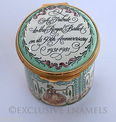 Halcyon Days Enamels The Royal Ballet Golden Jubilee Enamel Box