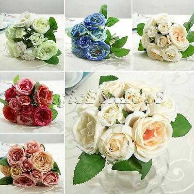 1 Bouquet Silk Flower Rose Peony For Wedding Bouquet Party Bride Bridesmaid Girl