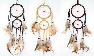 Set of 3 Handmade Dream Catcher w Feathers Wall Hanging Decoration Gift
