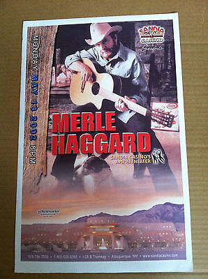 MERLE HAGGARD  PROMO Concert Gig TOUR Poster May 2002 New Mexico for ROOTS CD