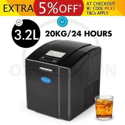 NEW PolyCool Portable Ice Cube Maker Machine 3.2L Automatic Commercial Home Fast