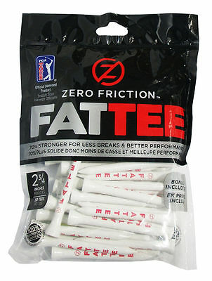 Zero Friction PGA Fattee Golf Tees x 50 Black 3.25 Inch Gift Novelty Fatty Hard