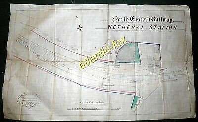1878 The Original WETHERAL STATION North Eastern Railway/ Newcastle  PLAN