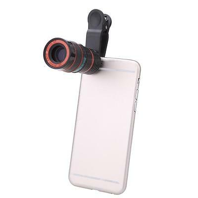 8X Zoom Phone Telephoto Camera Lens Clip Photography Accessory for Android U4M7
