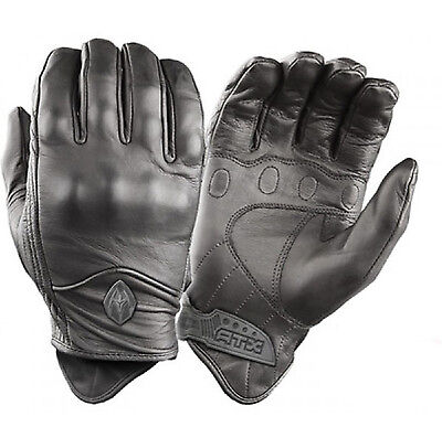 Damascus ATX95 Police Black Leather Hard Knuckle Tactical SWAT Airsoft Gloves