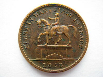 United States 1863 civil war token UNION FOR EVER