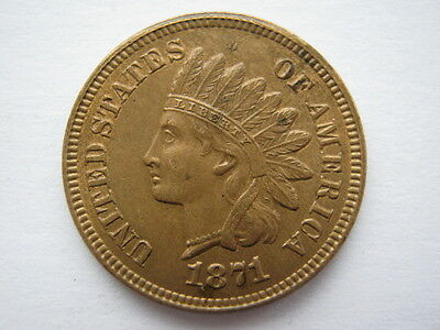 United States 1871 Indian Head Cent A UNC