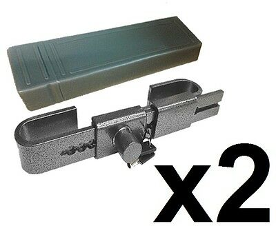 2 x HARDENED STEEL SHIPPING CONTAINERS STORAGE SECURITY LOCK & CASE ADJUSTABLE