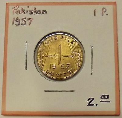 """1957 Pakistan One Pice """"uncirculated"""" Coin"""