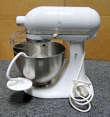 Kitchenaid Classic Series 45 Quart Tilt Head Stand Mixer classic plus series 4.5-quart tilt-head stand mixer cooking, white