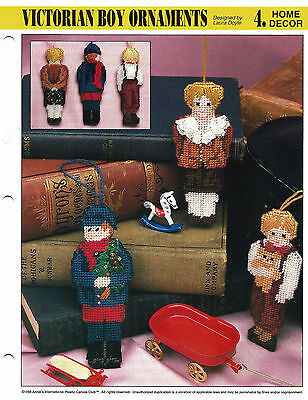 ~ ~ ~ Annie's Plastic Canvas ** Pattern Only ** ~ Victorian Boy Ornaments ~