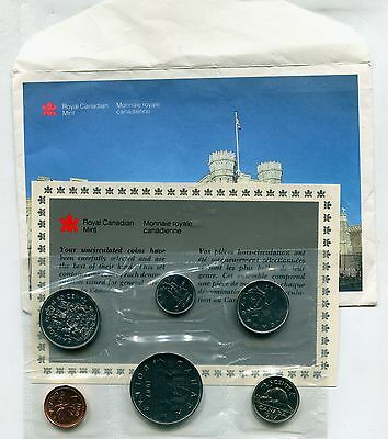 Canada 1987 Mint Set with Envelope & Card