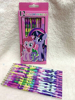 1box 12color my little pony painting pencil School kids coloured pencils gifts