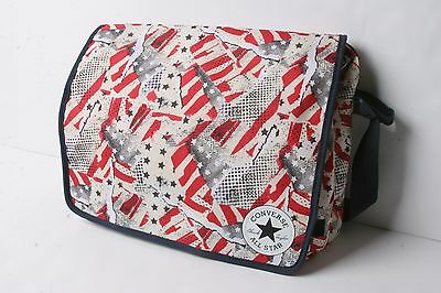 1813ca06b8 Converse Small Flap Reporter Bag (America Glitch White)