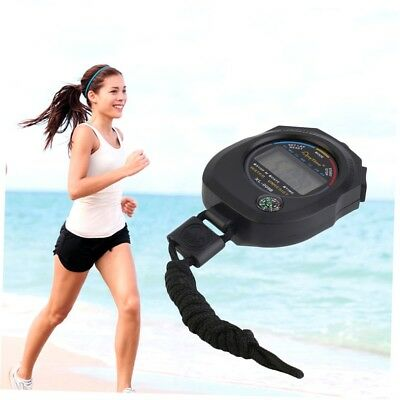 Waterproof Digital LCD Stopwatch Chronograph Timer Counter Sports Alarm G#