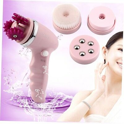 4 in 1 Electric Face Clean Massager Brush Skin Body Facial  Cleansing Beauty G#