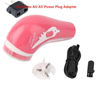 Red Rechargeable Electric Fabric Shaver Lint Fuzz Remover Household New G#