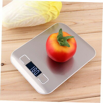 11lb x 0.05oz Slim LCD Digital Kitchen Scale 5Kg x 1g Weight Food Diet GH