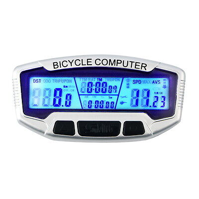 Wired LCD Bicycle Bike Cycling Computer Odometer Speedometer Velometer GH