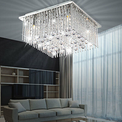 LED Ceiling Light Living Room Chandelier Lamp Dining Crystal Acrylic