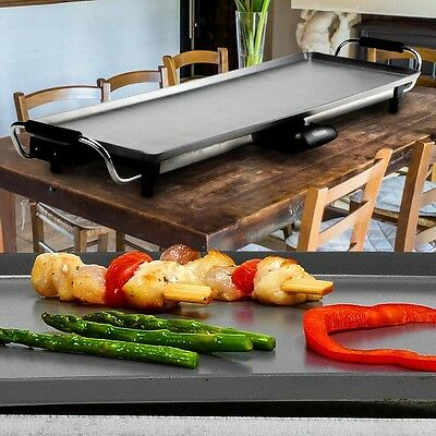 Electric Teppanyaki Table Grill Baking Fry Plate BBQ Raclette XL Casserole