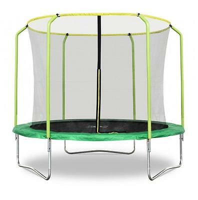 Rebo Fun Jump Trampoline With HALO Safety Enclosure - 4 Sizes