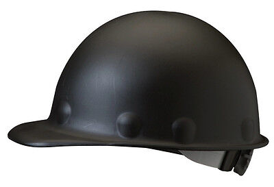 Fibre-Metal Roughneck P2A Series Class C and G Black Fiberglass Hard Hat