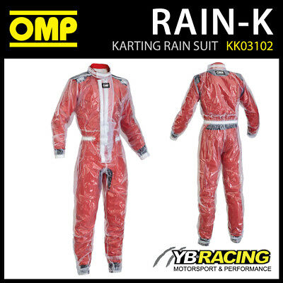 New! Kk03102 Omp Kart Rain-K Wet Weather Karting Over Suit - Clear Plastic Pvc