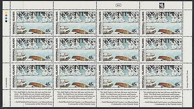 MARSHALL ISLANDS  : 1989 Invasion of Finland  sheetlet SG250 x12 MNH
