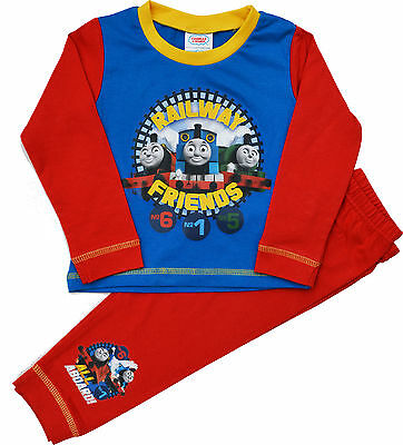 Boys Thomas Tank Engine Snuggle Fit Pyjamas Pjs Size 12mth to 4 Yrs TT14