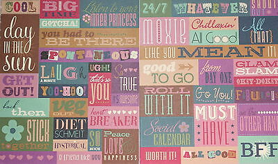 Scrapbooking No 069 - 35 Small Cardstock Sayings Stickers Pack - Price Reduced