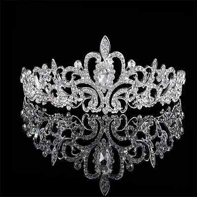New Bridal Princess Austrian Stunning Crystal Hair Tiara Wedding Crown Headband