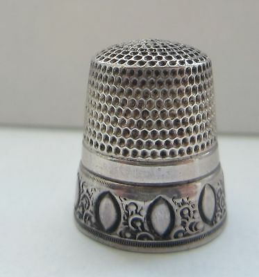 Antique Silver Simmons Brothers Thimble 1890-1900 Size 9