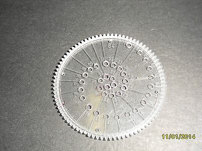 Kenner Spirograph disc #84, #80 and #75 from 1967 set no.401 wheel part gear