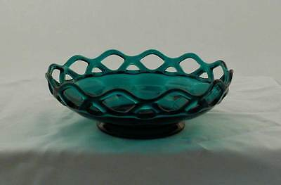 Imperial Glass Lace Edge Stiegel Green Shallow Round Bowl bfe1587