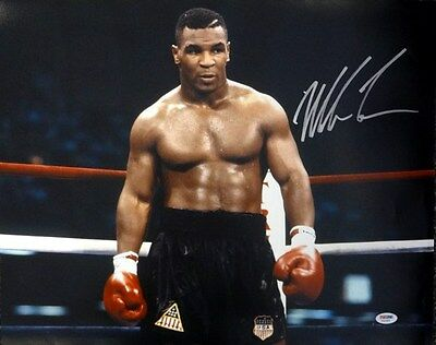 Mike Tyson Autographed Signed 16X20 Photo Psa/dna Stock #83629