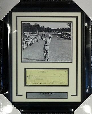 Ben Hogan Autographed Signed Framed 8X10 Photo With Check Stock #98233