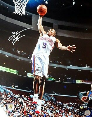 Allen Iverson Autographed Signed 16X20 Photo 76Ers All-Star Game Psa/dna