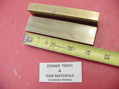 "2 Pieces 1/2"" x 1"" C360 BRASS FLAT BAR 4"" long Solid Mill Stock H02 .50""x 1""x 4"""