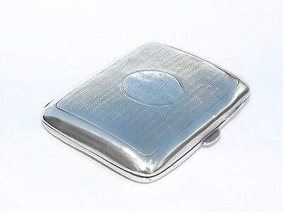 Lovely Antique Victorian Solid Silver Sterling Cigarette Case Birmingham 1896