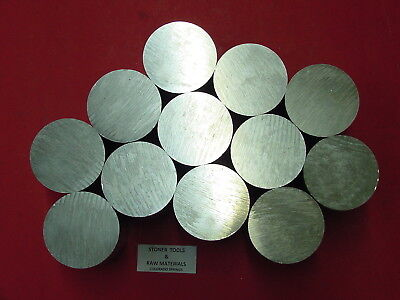 "12 Pieces 3"" ALUMINUM 6061 ROUND ROD .75"" long T6511 Solid Lathe Bar Stock"