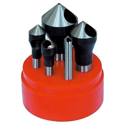 5 Piece 60 Degree Zero-Flute Countersink & Deburring Tool Set (2001-0005)